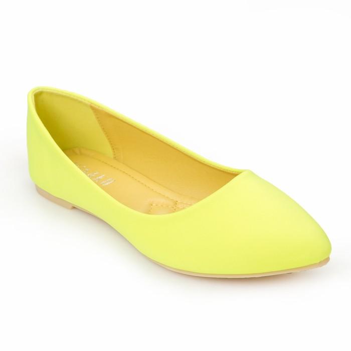 Балетки женские MINAKU, желтый, размер 38
