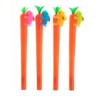 Ручка гелевая-прикол «Морковь с цветным зайкой»