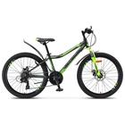 "Велосипед 24"" Stels Navigator-450 MD, V020, цвет чёрный/зелёный, размер 13"""