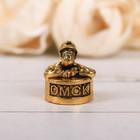 "Thimble souvenir ""Omsk"" gold, 2.2 x 2.7 cm"