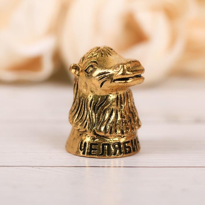 Напёрсток сувенирный «Челябинск», зoлoто - фото 691136