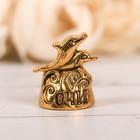 Напёрсток сувенирный «Сочи», золото - фото 691148