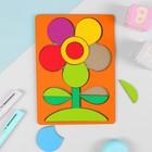 """Головоломка """"Мой цветочек"""", крашеное дерево - фото 1028154"""
