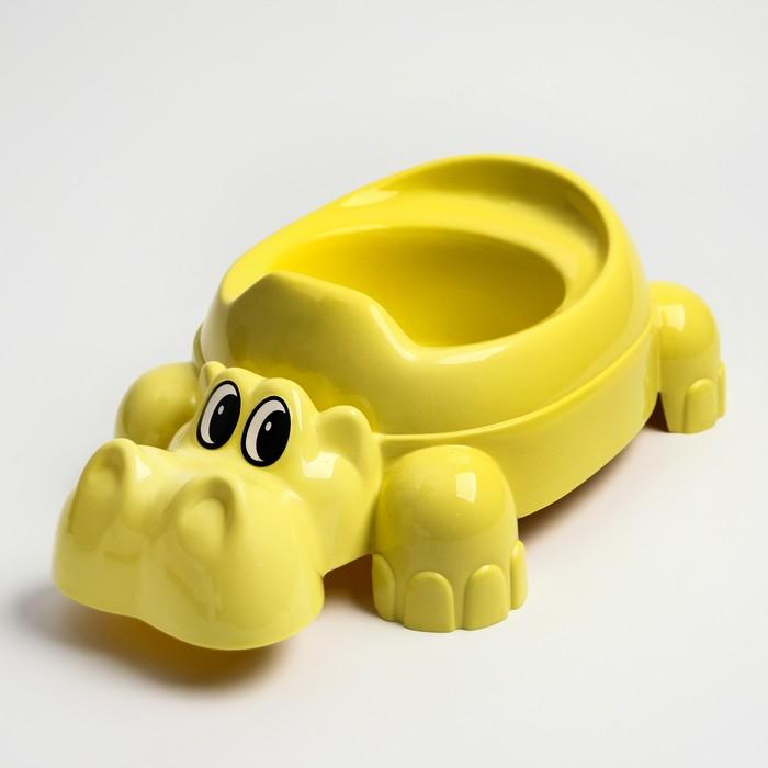 Детский горшок «Бегемотик», цвет МИКС