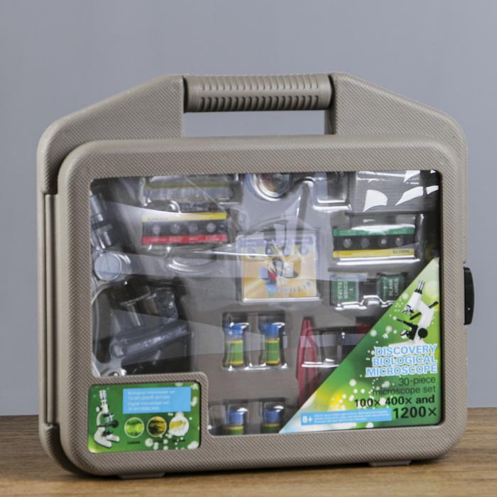 """Микроскоп """"Практика"""" 100х-400х-1200х, набор для исследований"""