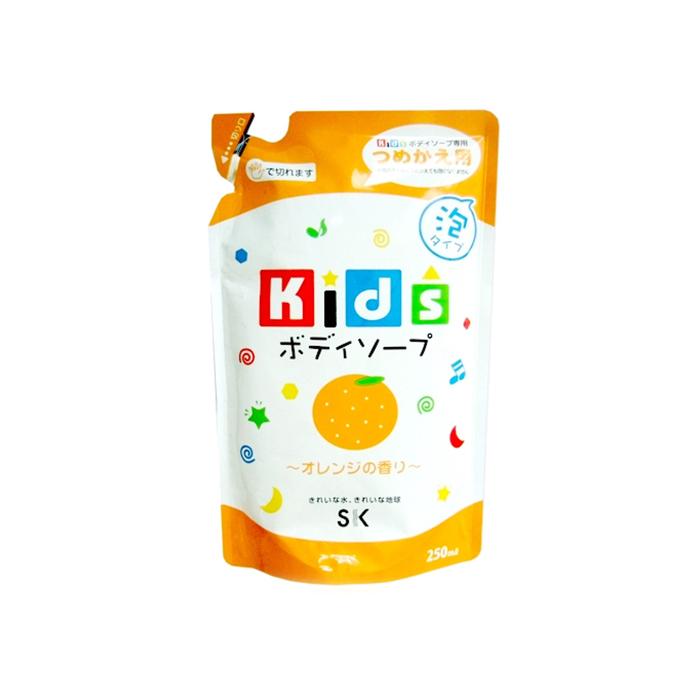 Детское пенное мыло для тела SK Kids, с ароматом апельсина, дой-пак, 250 мл