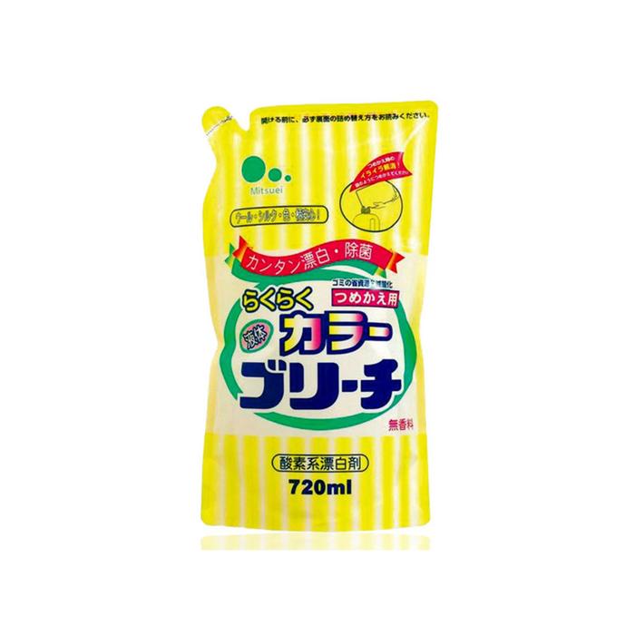 Кислородный отбеливатель Mitsuei для цветных вещей, дойпак, 720 мл