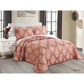 Комплект Versailles: покрывало 220 × 240 см, наволочки 50 × 70 см - 2 шт, светло - терракотовый