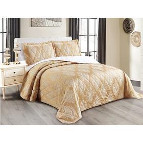 Комплект Versailles: покрывало 240 × 260 см, наволочки 50 × 70 см - 2 шт, бежевый