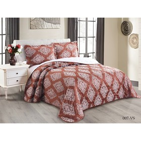 Комплект Versailles: покрывало 220 × 240 см, наволочки 50 × 70 см - 2 шт, терракотовый