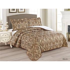 Комплект Gabriella: покрывало 220 × 240 см, наволочки 50 × 70 см - 2 шт, коричневый