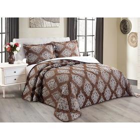 Комплект Versailles: покрывало 240 × 260 см, наволочки 50 × 70 см - 2 шт, коричневый