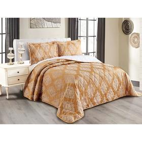 Комплект Versailles: покрывало 240 × 260 см, наволочки 50 × 70 см - 2 шт, песочный