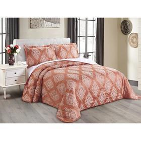 Комплект Versailles: покрывало 240 × 260 см, наволочки 50 × 70 см - 2 шт, светло - терракотовый
