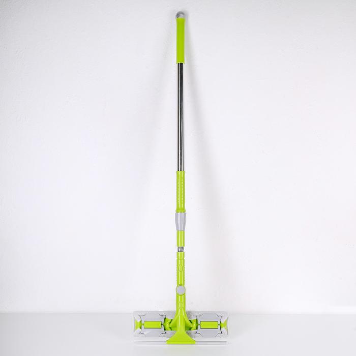 Окномойка с телескопической стальной ручкой и сгоном, 30×5×119(145) см, поворотная головка, микрофибра - фото 4644490