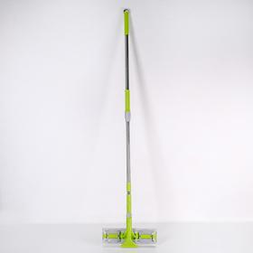 Окномойка с телескопической стальной ручкой и сгоном, 30×5×119(145) см, поворотная головка, микрофибра - фото 4644491