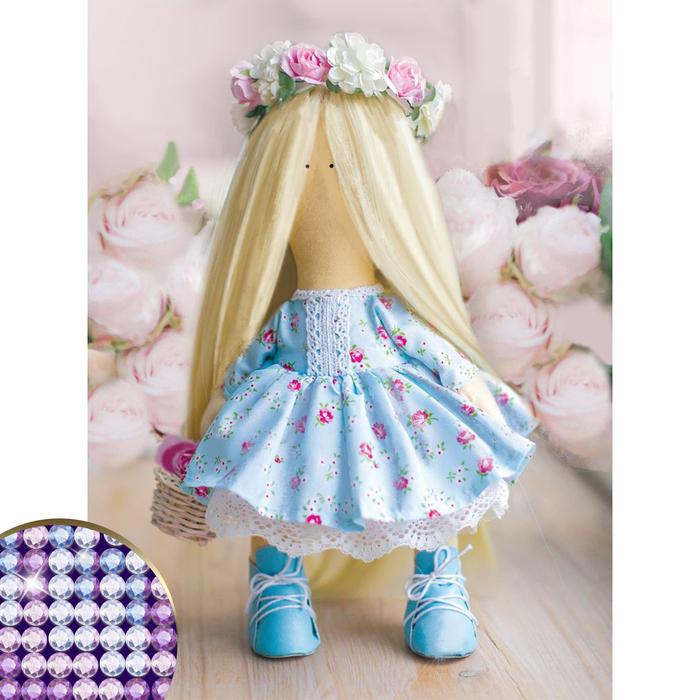 """Алмазная вышивка с частичным заполнением """"Кукла"""" 30*40 см, холст, емкость"""