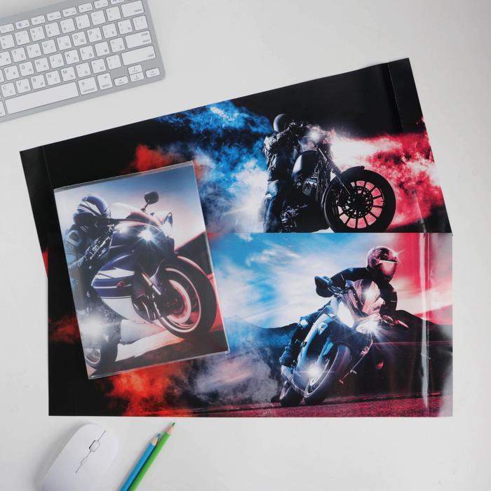 Обложка со вставками «Мото», 22.6×43 см