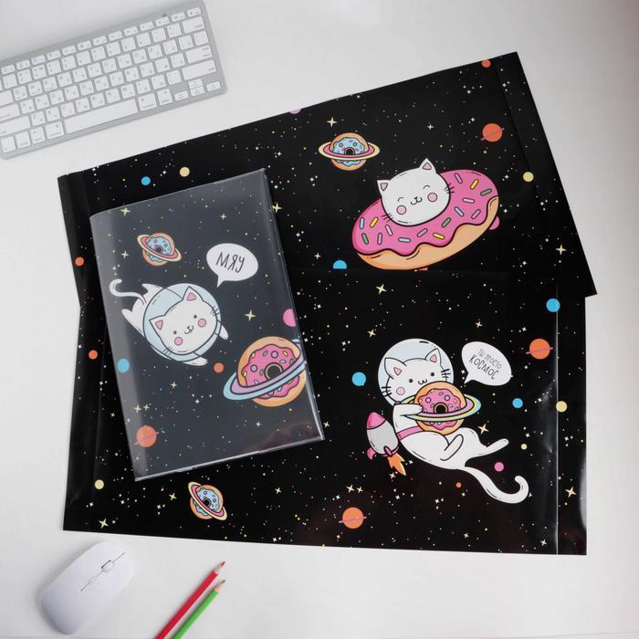 Обложка со вставками «Котики», 30×50 см