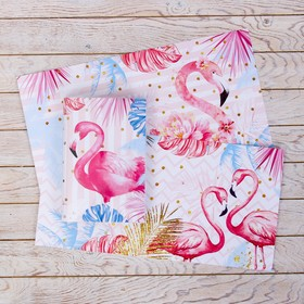 Cover with insets of Flamingo, 232 x 450 mm