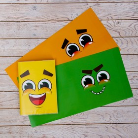 "Cover with inserts ""Smileys"", 215 x 400 mm"