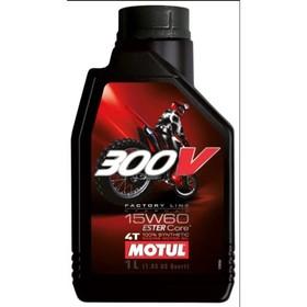 Моторное масло MOTUL 300 V 4T Off Road 15W-60, 1 л