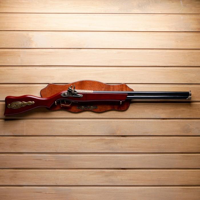 Сувенирное ружьё на планшете, двуствольное 96х20 см, зажигалка - фото 8875534