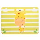 Набор для кормления, 2 предмета: нагрудник непромокаемый, коврик для кормления, цвет жёлтый - фото 105449226