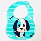 Набор для кормления, 2 предмета: нагрудник непромокаемый, коврик для кормления, цвет синий - фото 105449233