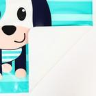 Набор для кормления, 2 предмета: нагрудник непромокаемый, коврик для кормления, цвет синий - фото 105449238