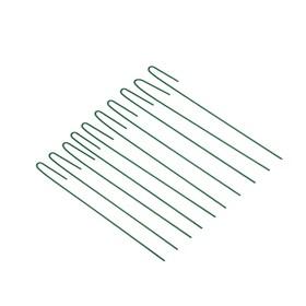 Колышек универсальный, h = 40 см, ножка d = 0.3 см, набор 10 шт., зелёный