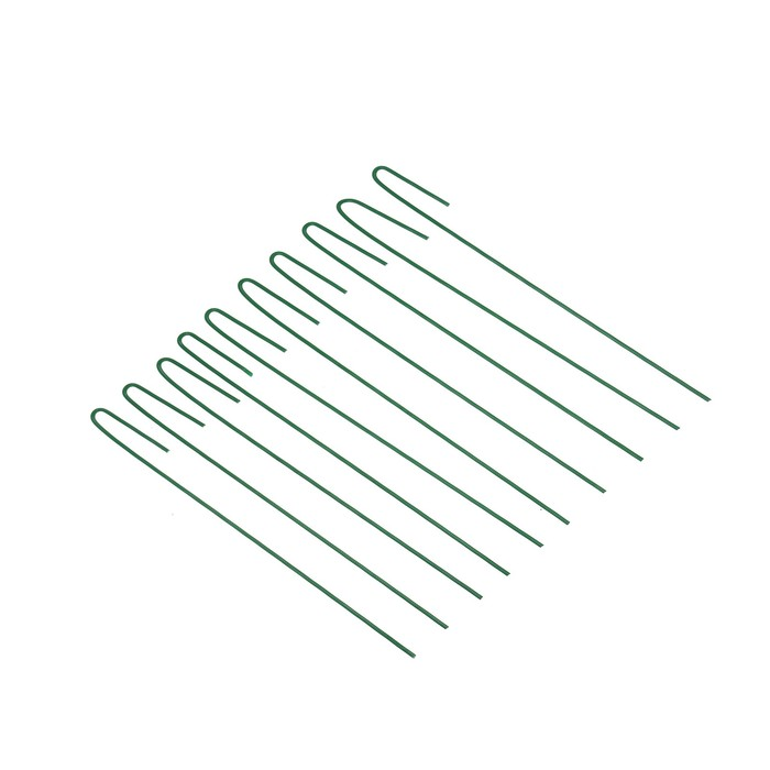 Колышек универсальный, h = 40 см, ножка d = 0.3 см, набор 10 шт., зелёный, Greengo