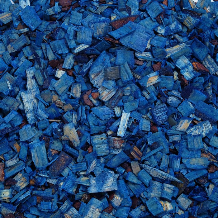 Щепа декоративная, синяя 5л.