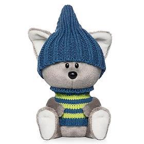 Мягкая игрушка «Волчонок Вока» в шапочке и свитере, 15 см