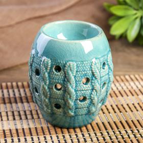 Аромалампа керамика 'Крупная вязка' голубая 11х9х9 см Ош