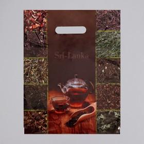"""Пакет """"Шри-Ланка"""", полиэтиленовый с вырубной ручкой, 30 х 40 см, 35 мкм"""