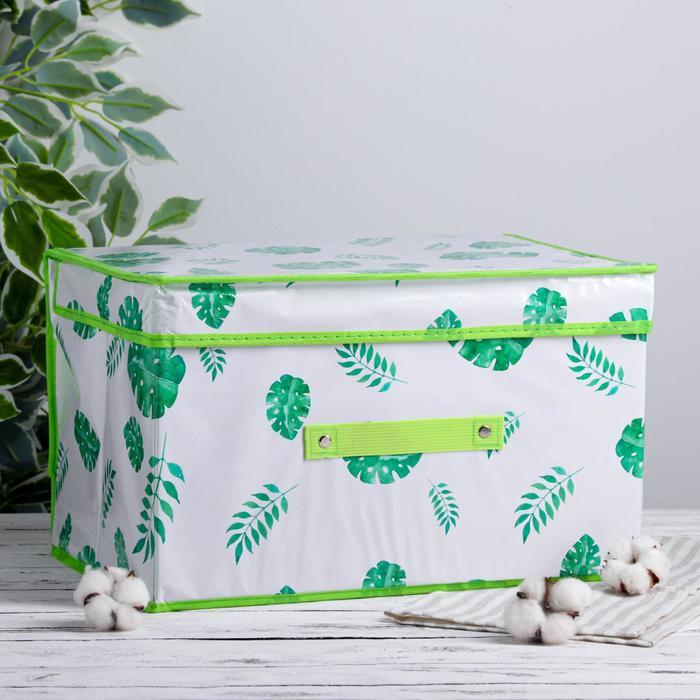 Короб для хранения с крышкой «Тропики», 40×31×25 см - фото 308331999
