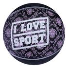 "Ball basketball ONLITOP ""I LOVE SPORT"" R. 6, 450 g, PVC, butyl camera"