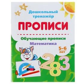 Дошкольный тренажёр. Обучающие прописи «Математика»: для детей 5-6 лет