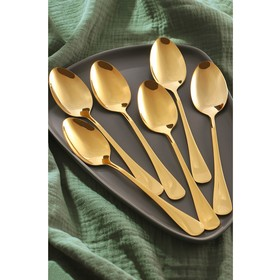 A set of Cutlery spoons 20.5 cm gold, 6 PCs