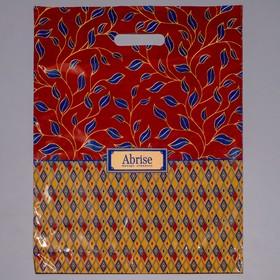 """Пакет """"Абрис"""", полиэтиленовый с вырубной ручкой, 38 х 47 см, 60 мкм"""