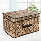 Короб для хранения с крышкой «Винные пробки», 40×31×25 см - фото 308331753