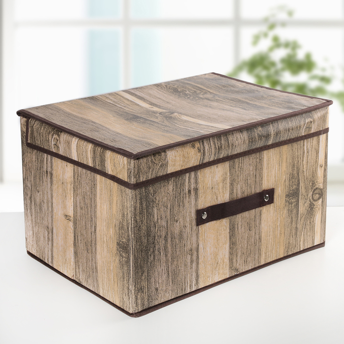 Короб для хранения с крышкой «Досочки», 40×31×25 см - фото 308331756