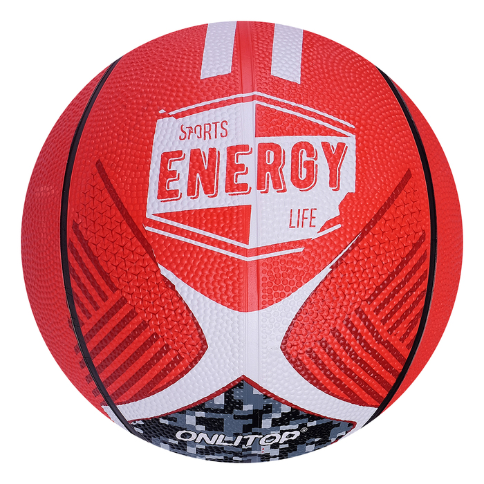 Мяч баскетбольный ONLITOP ENERGY, размер 5, PVC, бутиловая камера, 400 г