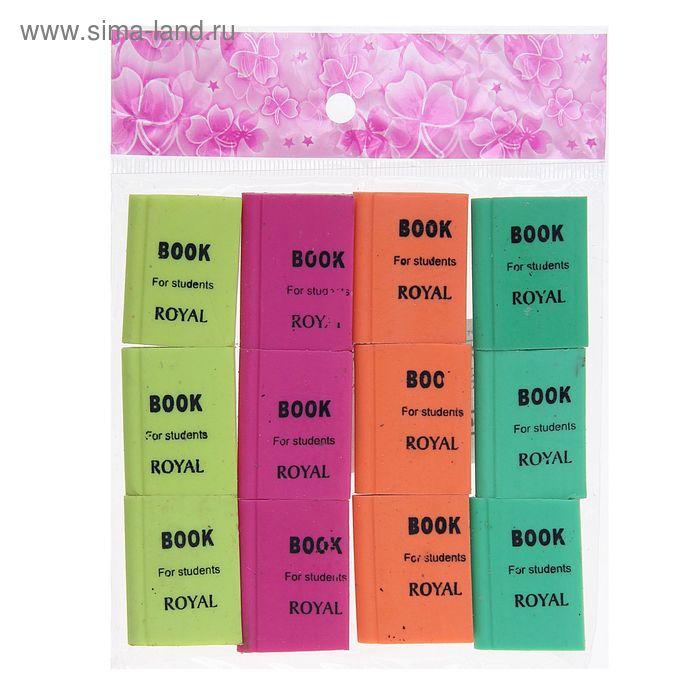 Набор ластиков Книжка флюор микс (12шт)