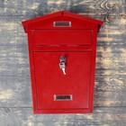 Ящик почтовый 28*10*38 см коричневый