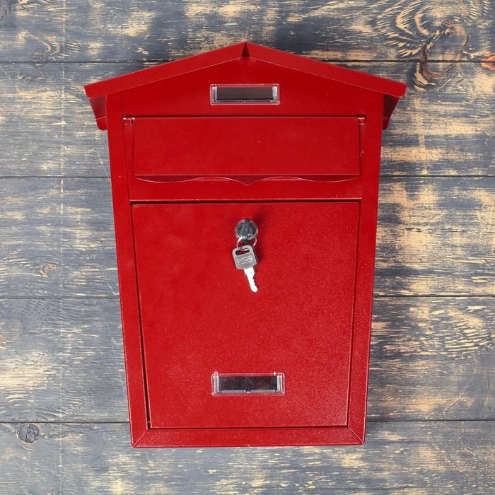 Ящик почтовый 28*10*38 см красный