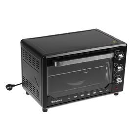 Мини-печь Sakura SA-7001BP, 1600 Вт, 35 л, форма для выпечки, чёрная