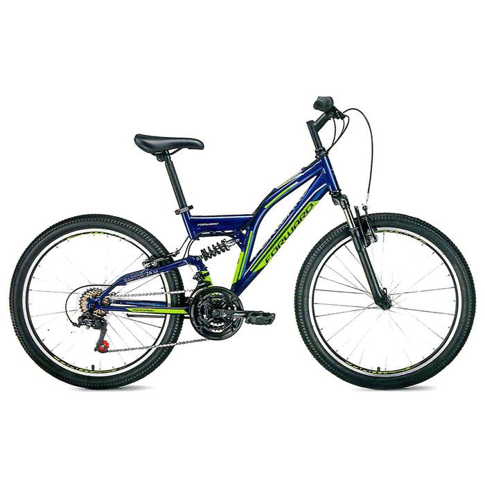 """Велосипед 24"""" Forward Raptor, 2019, цвет синий матовый, размер 13"""""""