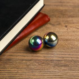 """Magnetic balls """"Gasoline"""" 2 PCs set 2.5 cm"""